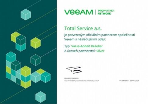 Partnerství Value-Added Reseller Silver