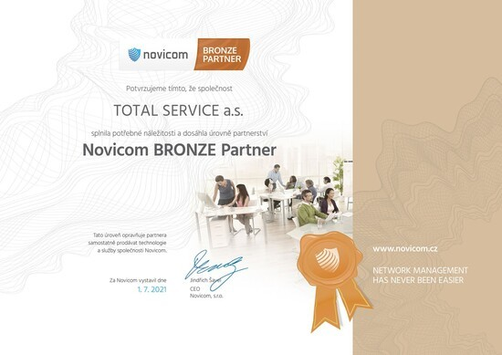 TOTAL SERVICE se stal Bronze Partnerem Novicomu